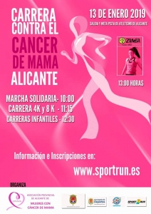 Carrera Contra el Cancer de Mama de Alicante 2018